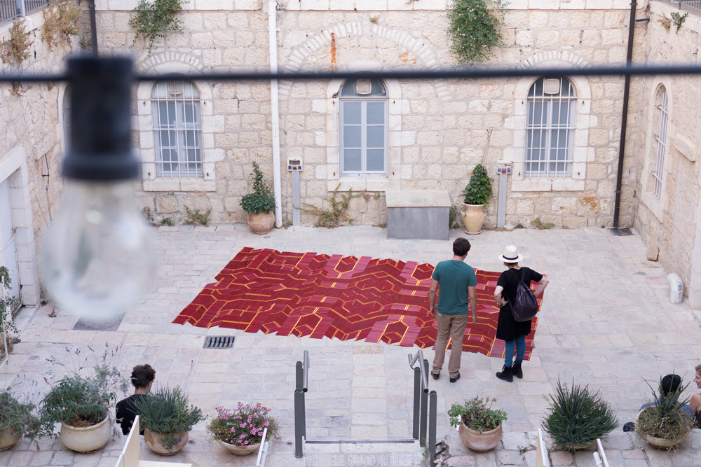 We Make Carpets: Pencil Carpet, Jerusalem Design Week 2017 (© WMC)
